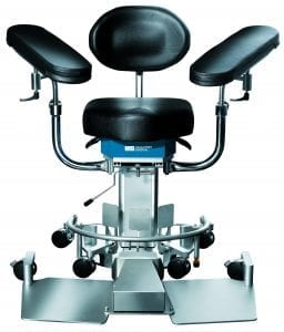 Operating room surgical chair